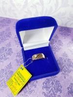 Золотое кольцо 585 пробы, размер 19, вес 3.7 г