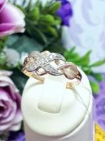 Золотое кольцо 585 пробы, размер 16, вес 1,6 г