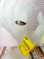 Золотое кольцо 585 пробы, размер 18.7, вес 1.6 г