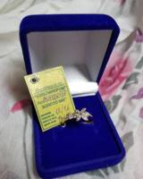 Золотое кольцо 585 пробы, вес 1,6 гр