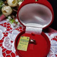 Золотое обручальное кольцо 585 пробы, вес 2,8, гр, размер 15