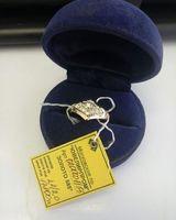 Элегантное золотое кольцо 585пробы с полудрагоценными камнями